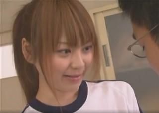 【女子校生動画】欲求不満な先生にエッチさせてあげる天使みたいなポニーテール美少女